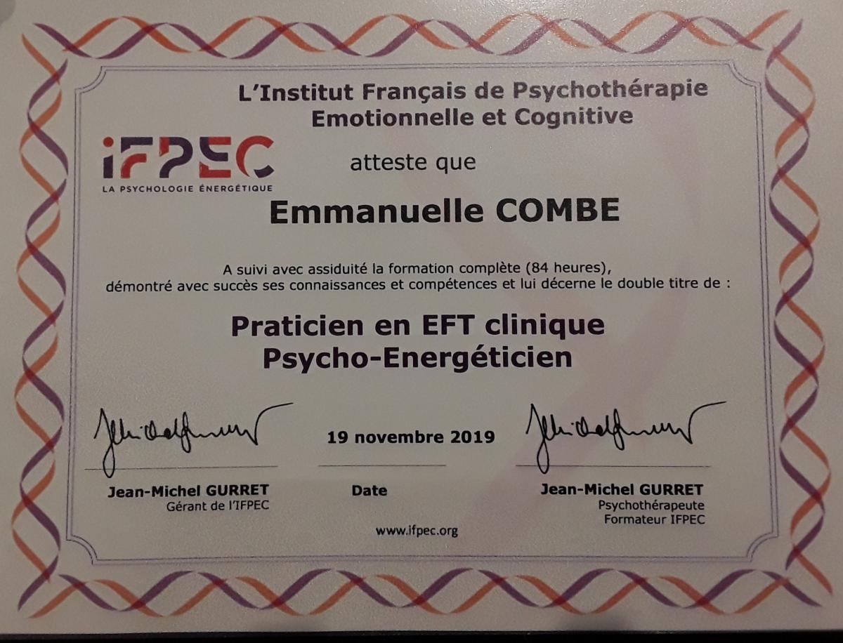 Emmanuelle Combe Sophrologue Praticien EFT clinique Vannes